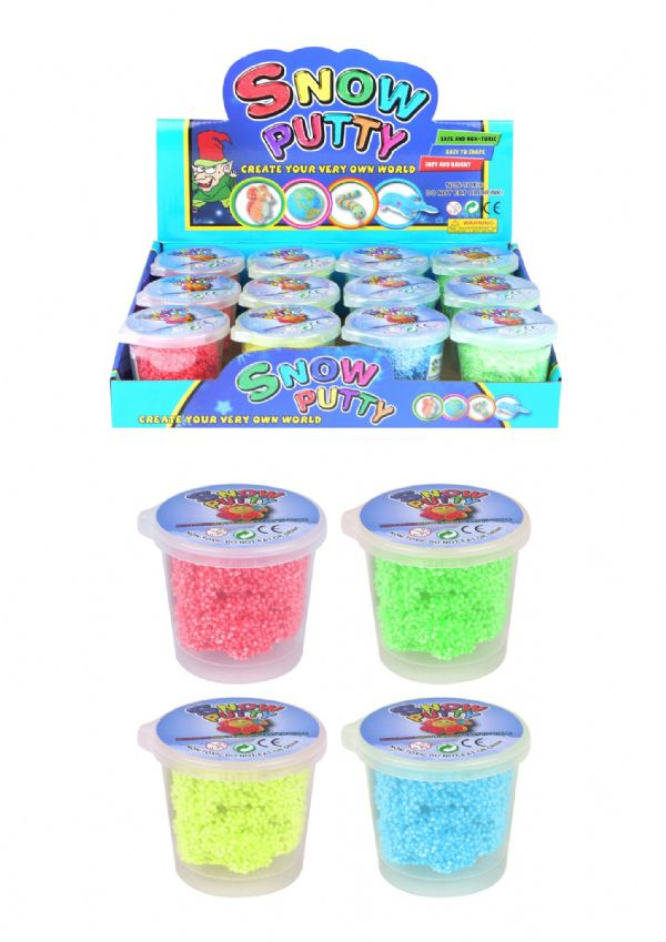 Snow Putty Tubs (6cm x 7cm) 4 Assorted Colours ( Individual price)